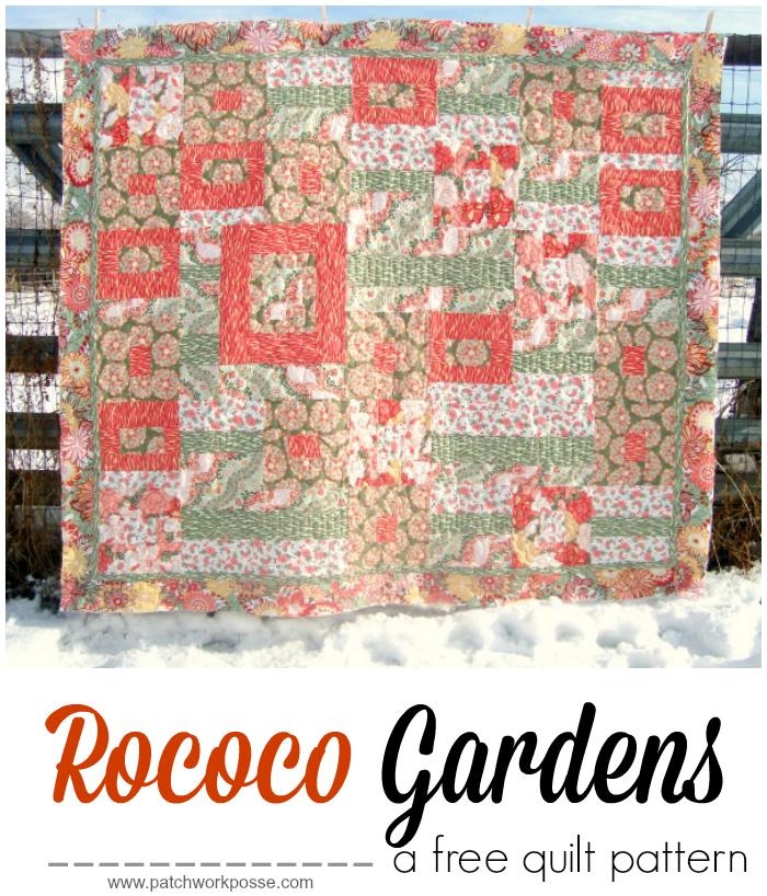 free quilt rococo gardens