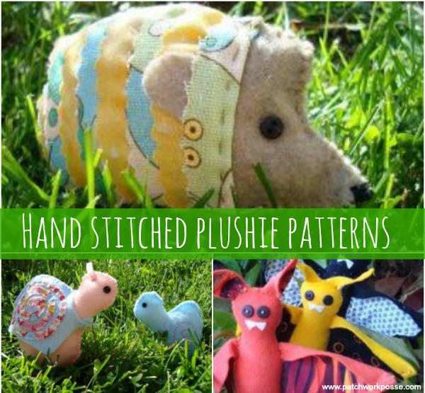 handstitched plushies hand stitched plushie patterns- learn the whip stitch and running stitch while sewing something cute!