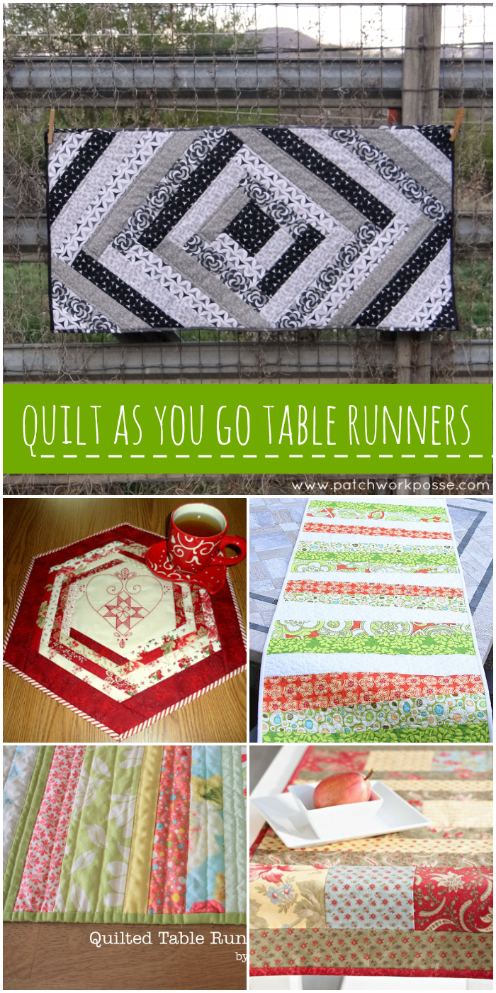 quilt as you go table runners