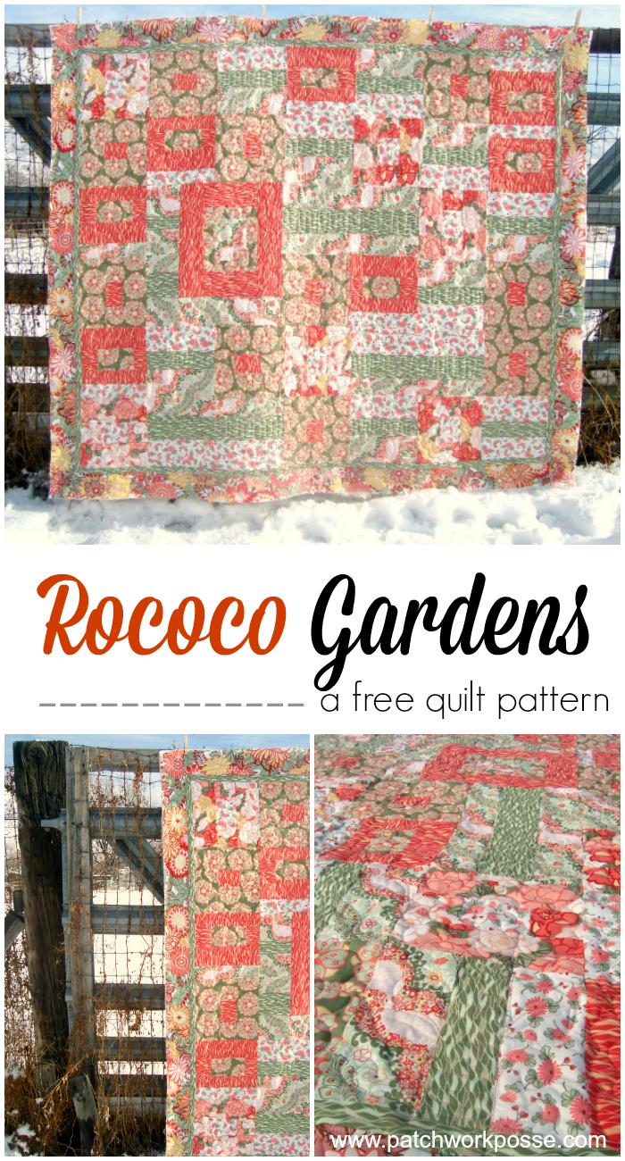 rococo gardens free quilt