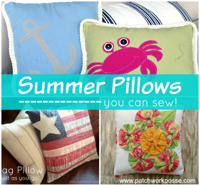 sew up a summer pillow