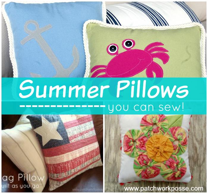 sew up a summer pillow