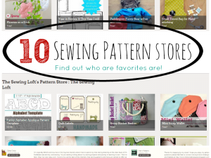 sewing pattern stores
