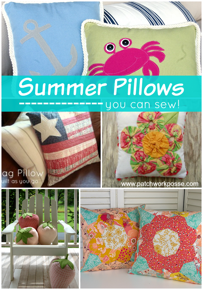summer pillows you can sew