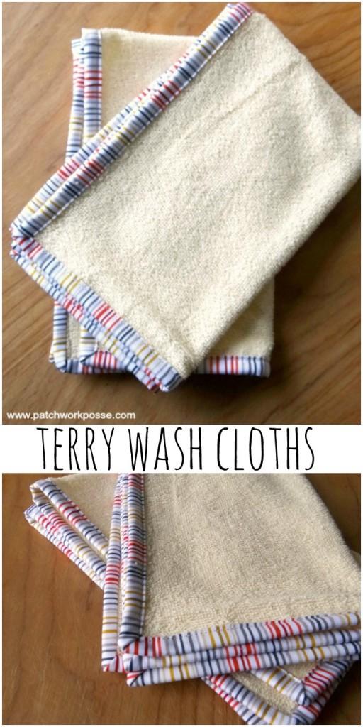 terry wash cloths tutorial