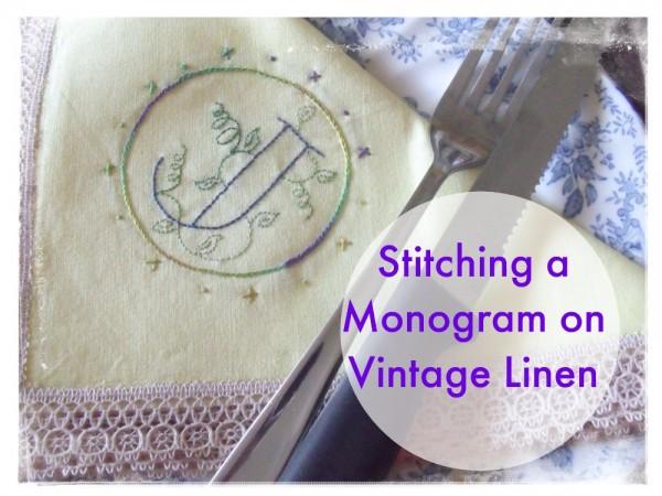 Stitching a monogram