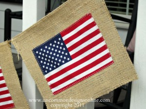 Uncommon 4th of july Burlap banner 1 2011