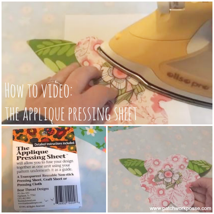 Applique Pressing Sheet How To
