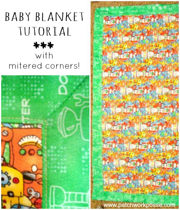 30 Minute Baby Blanket with Mitered Corner