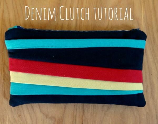 denim clutch tutorial