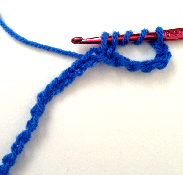 Crochet Stitches Dtr : Step 4: Yarn over and pull through the first two loops, leaving four ...