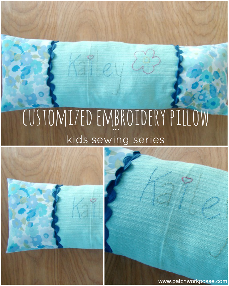 Embroidery Pillow – Sewing Projects for Kids Series