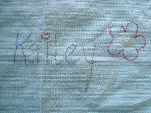 embroidery pillow name
