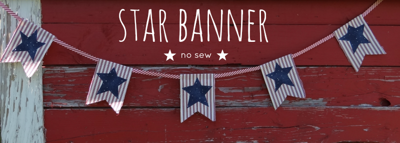 fourth of july banner tutorial