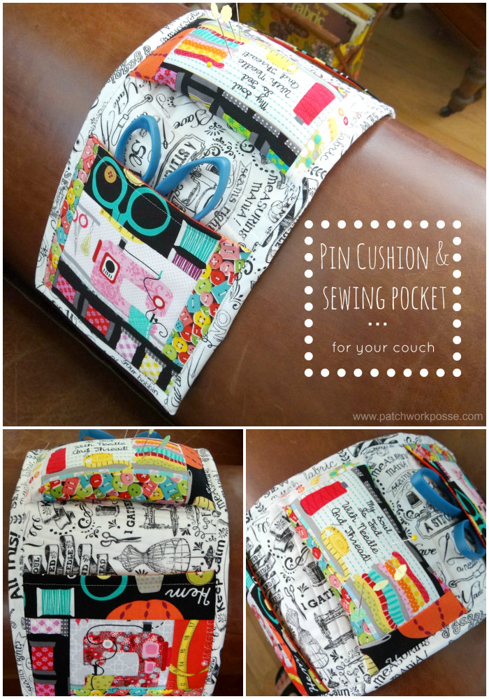 pin cushion and sewing pocket tutorial