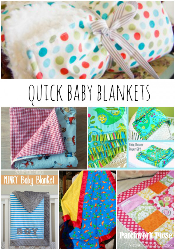 quick baby blankets - save it for later!
