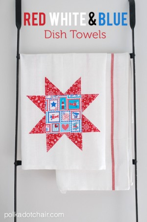 red-white-and-blue-dishtowels