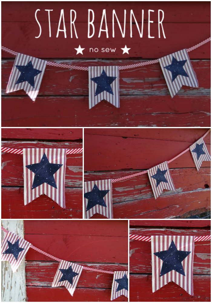 star banner no sew diy project