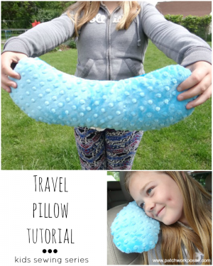 travel pillow tutorial kids sewing series