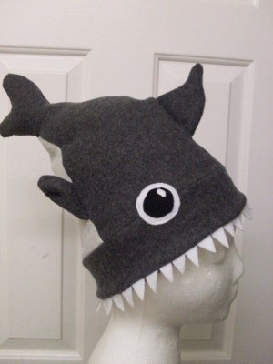 shark week - fleece hat sewing project