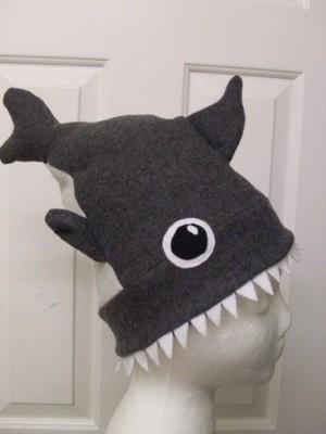 shark week - fleece hat sewing project
