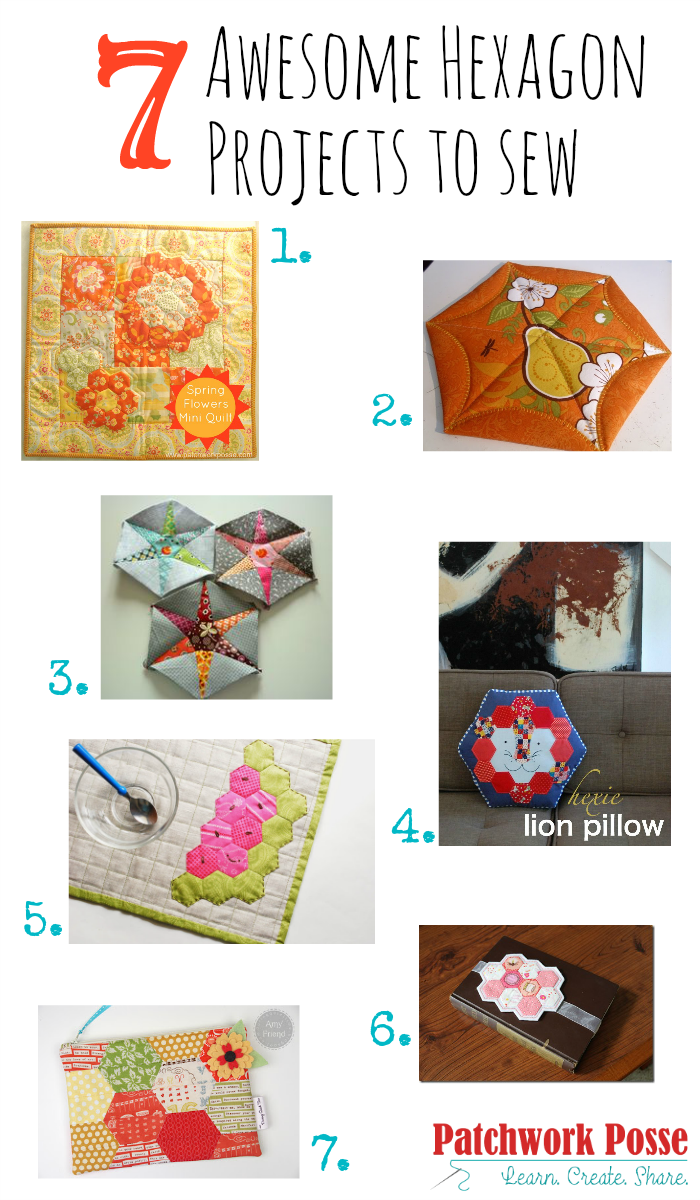 awesome hexagon projects to sew
