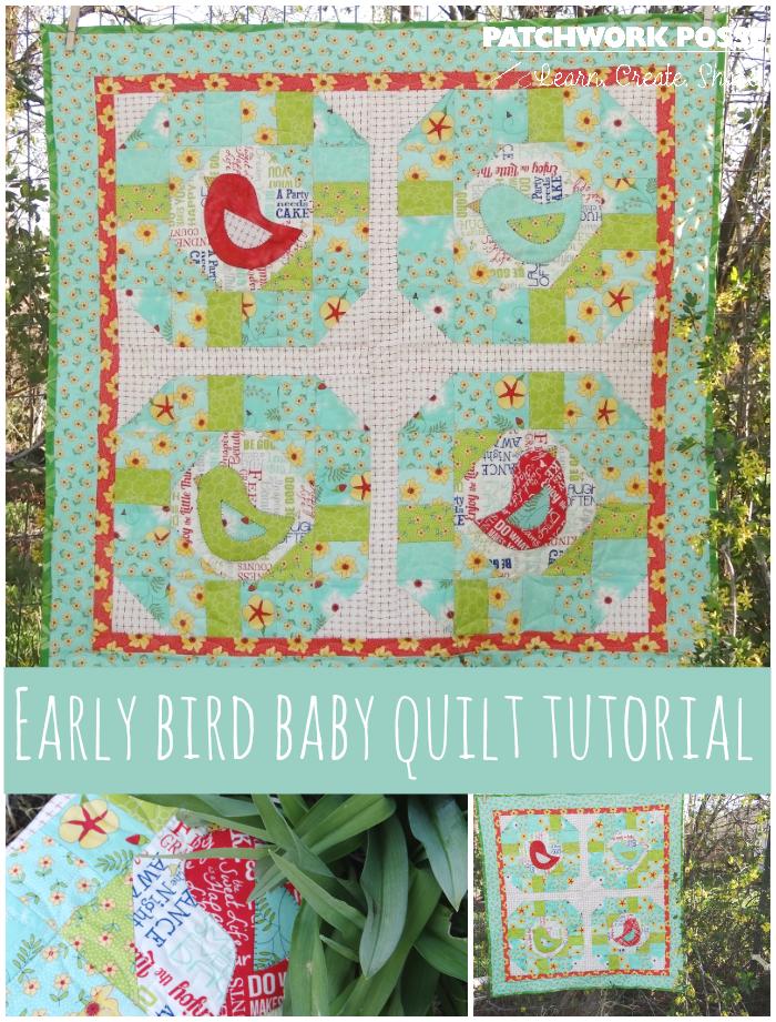 baby quilt tutorial early bird