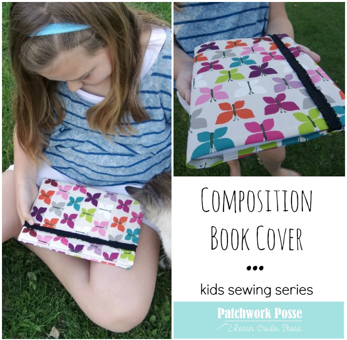 composition book cover tutorial kids sewing project
