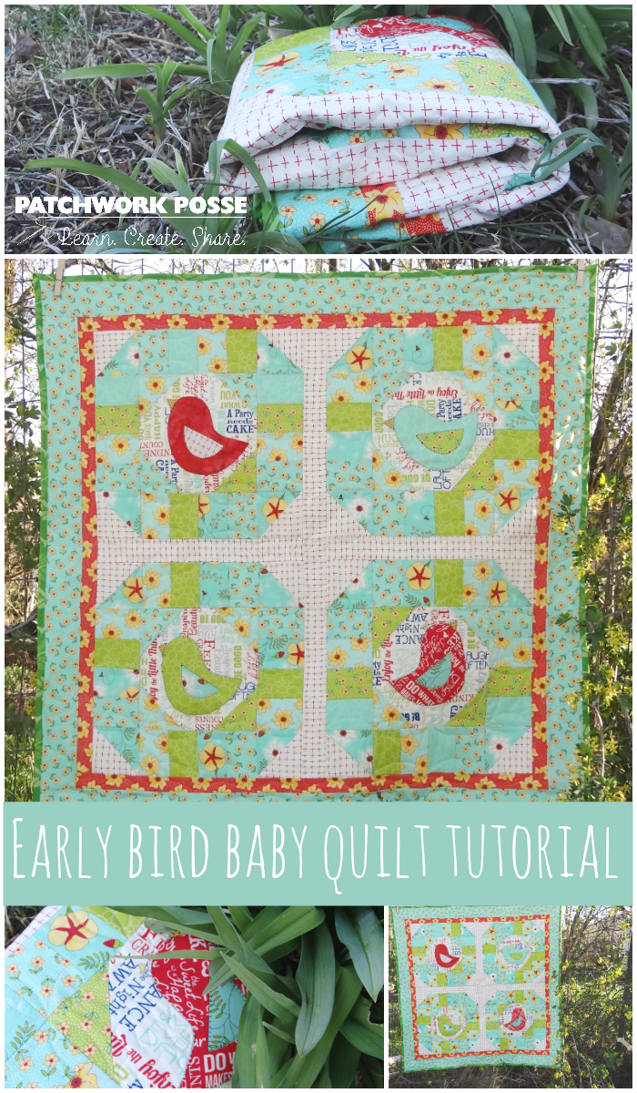 early bird baby quilt tutorial