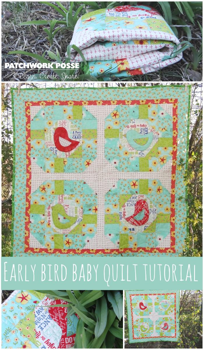 early bird baby quilt tutorial