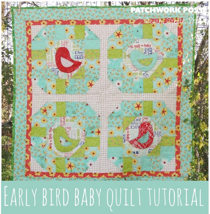 early bird quilt tutorial for beginners