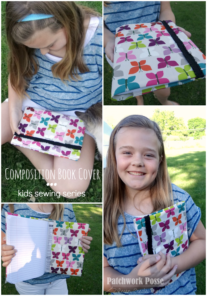 kids sewing series book cover tutorial