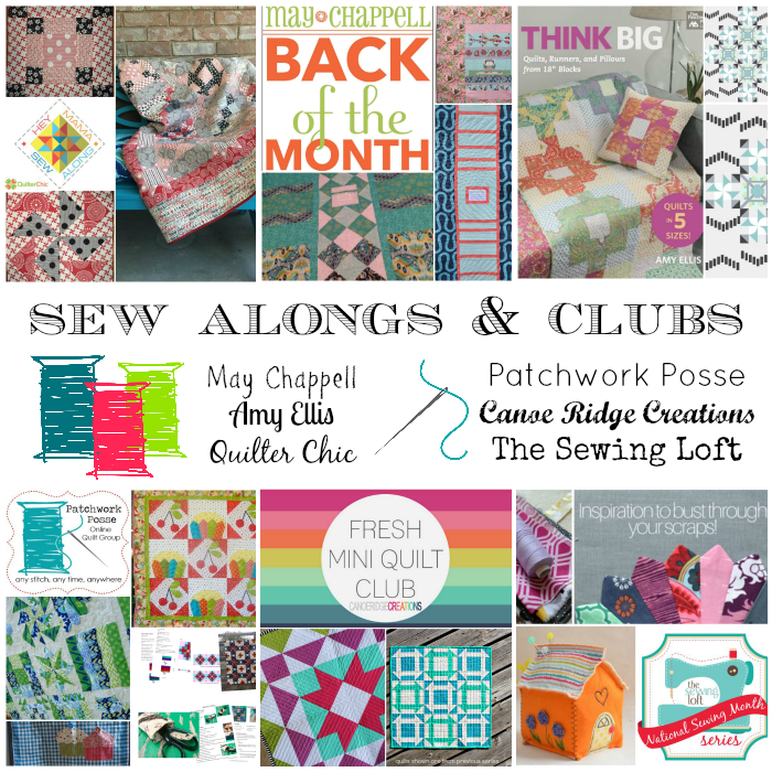 Sew Alongs & Clubs – you should totally join!