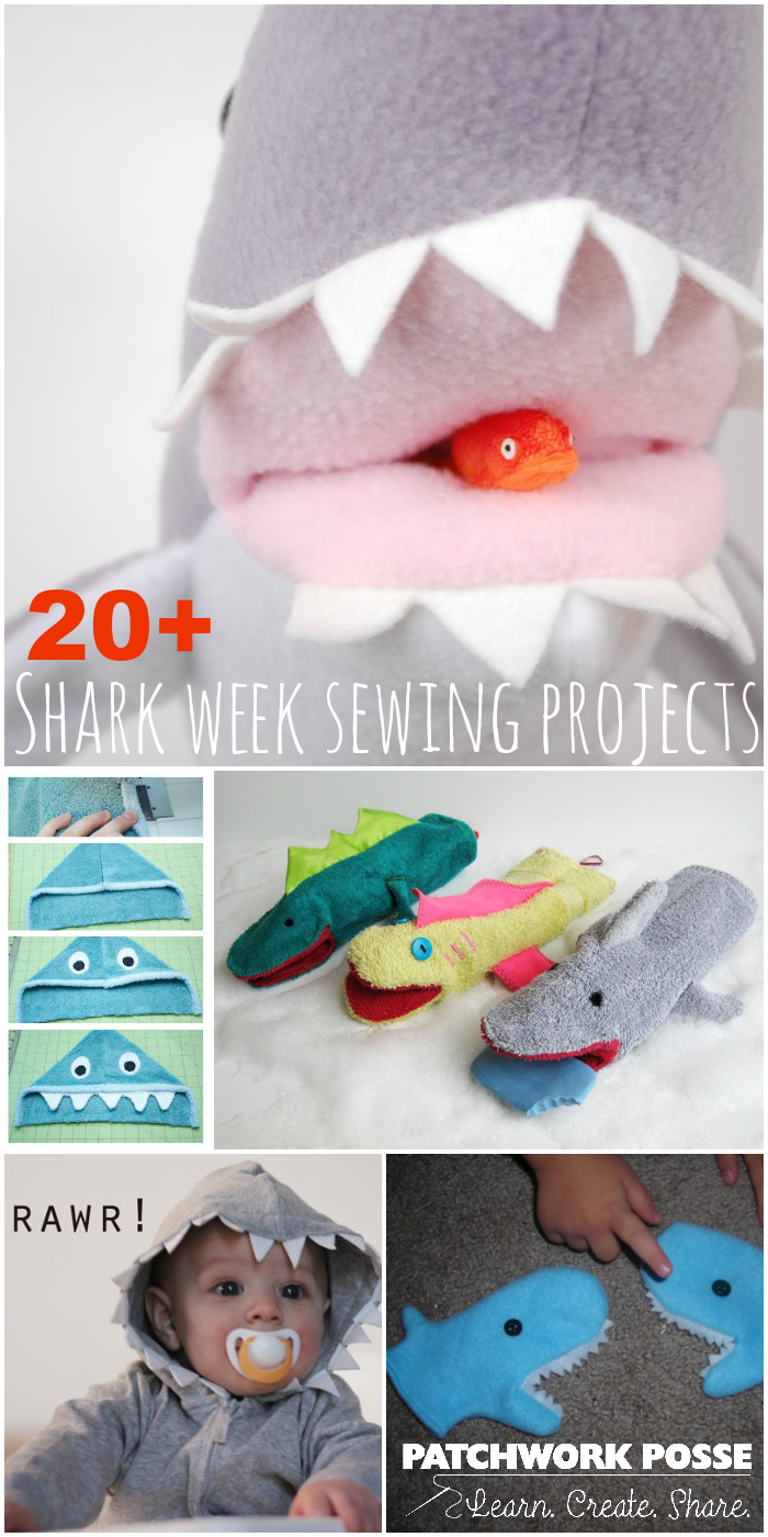 shark week sewing projects