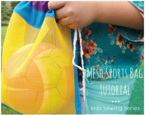 soccer ball cinch bag tutorial