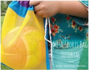 soccer ball cinch bag tutorial