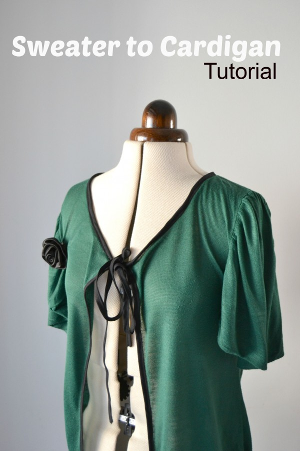 Learn a diy trick!  Take your old sweater and make it into a new cardigan.  It's not hard to do!  Come learn how.