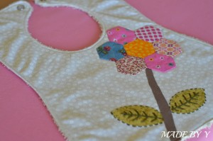 Watermarked hexagon bib