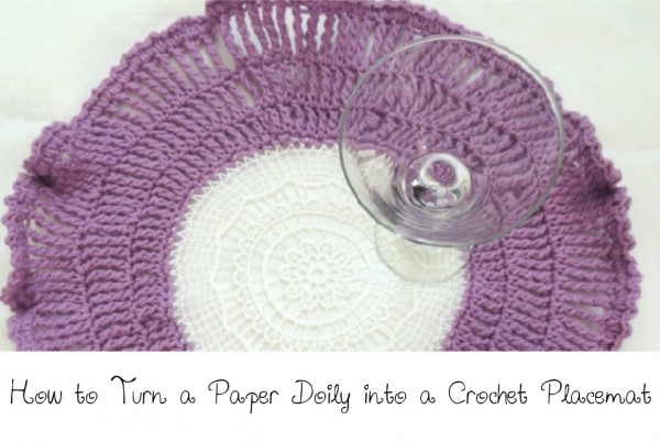 crochet doily placemat tutorial