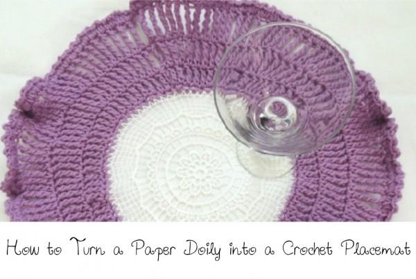 crochet doily placemat tutorial