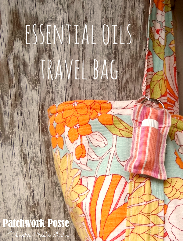 essential oil key fob tutorial.  Make a little carrier for a single bottle!  Great for travel or clipping onto your purse.