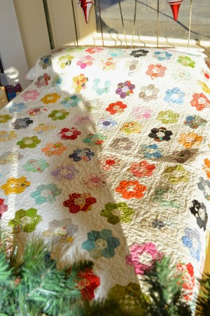hexagon twin quilt