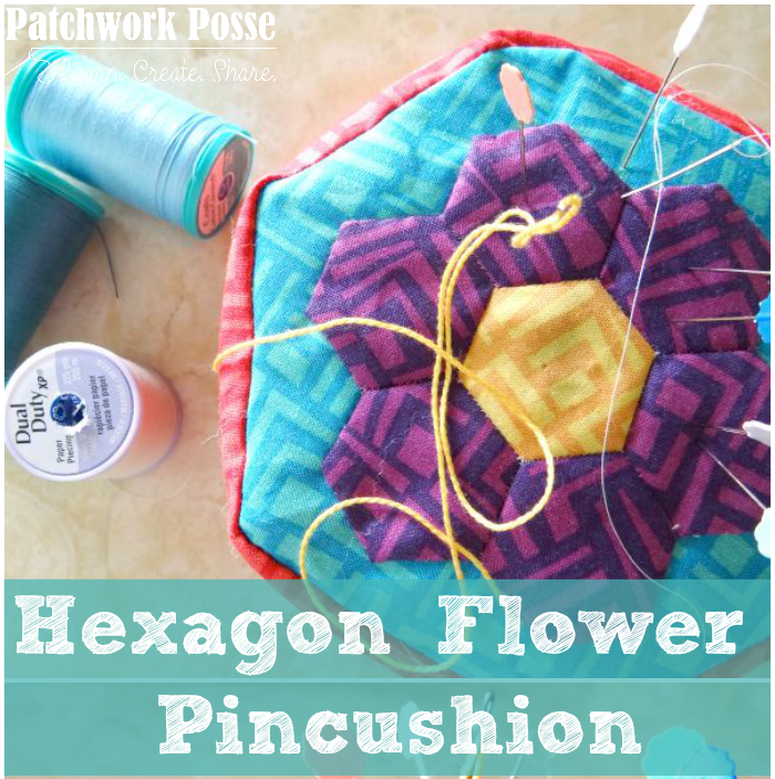 how to sew a hexagon pincushion