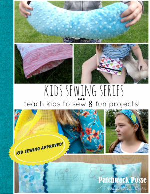 kids sewing series- 8 projects ebook. Teach kids to sew!