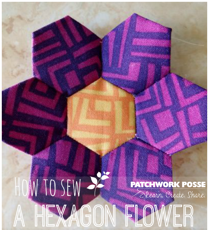 learn how to sew a hexagon flower