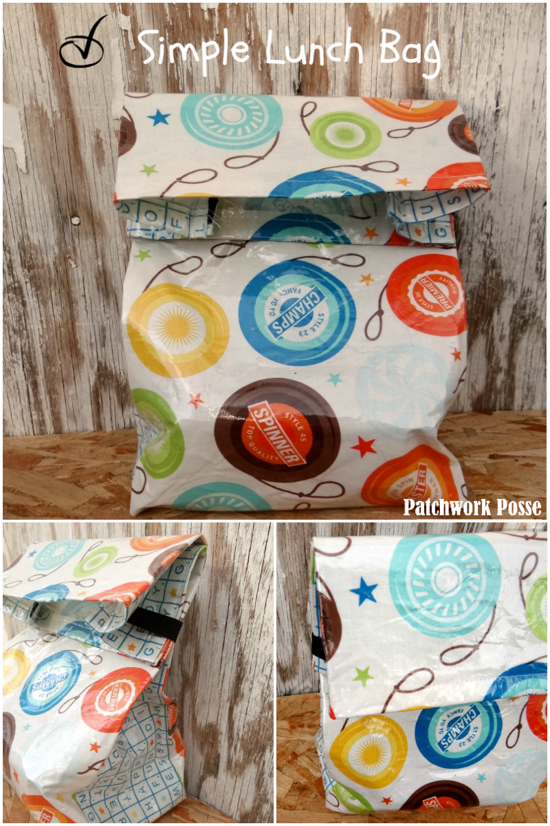 simple lunch bag pattern to sew