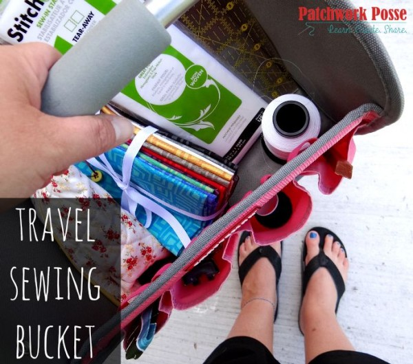 travel sewing bucket - take a tool bucket and turn it into the perfect thing to hold all your sewing projects and supplies.