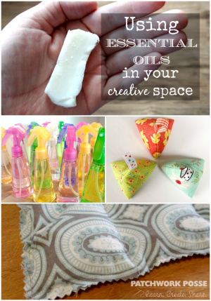 using essential oils in your creative space