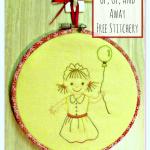 Up, Up and Away Free Stitchery Pattern
