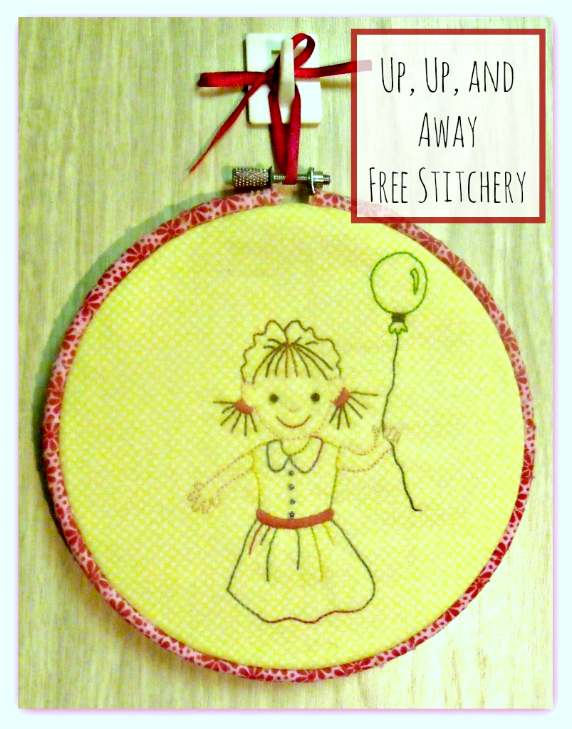 free stitchery pattern up up and away